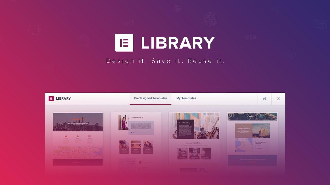 elementor template libraries