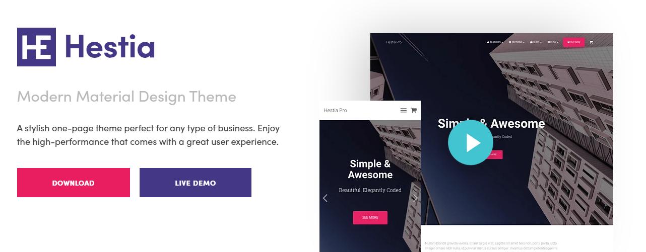 Hestia WordPress Theme